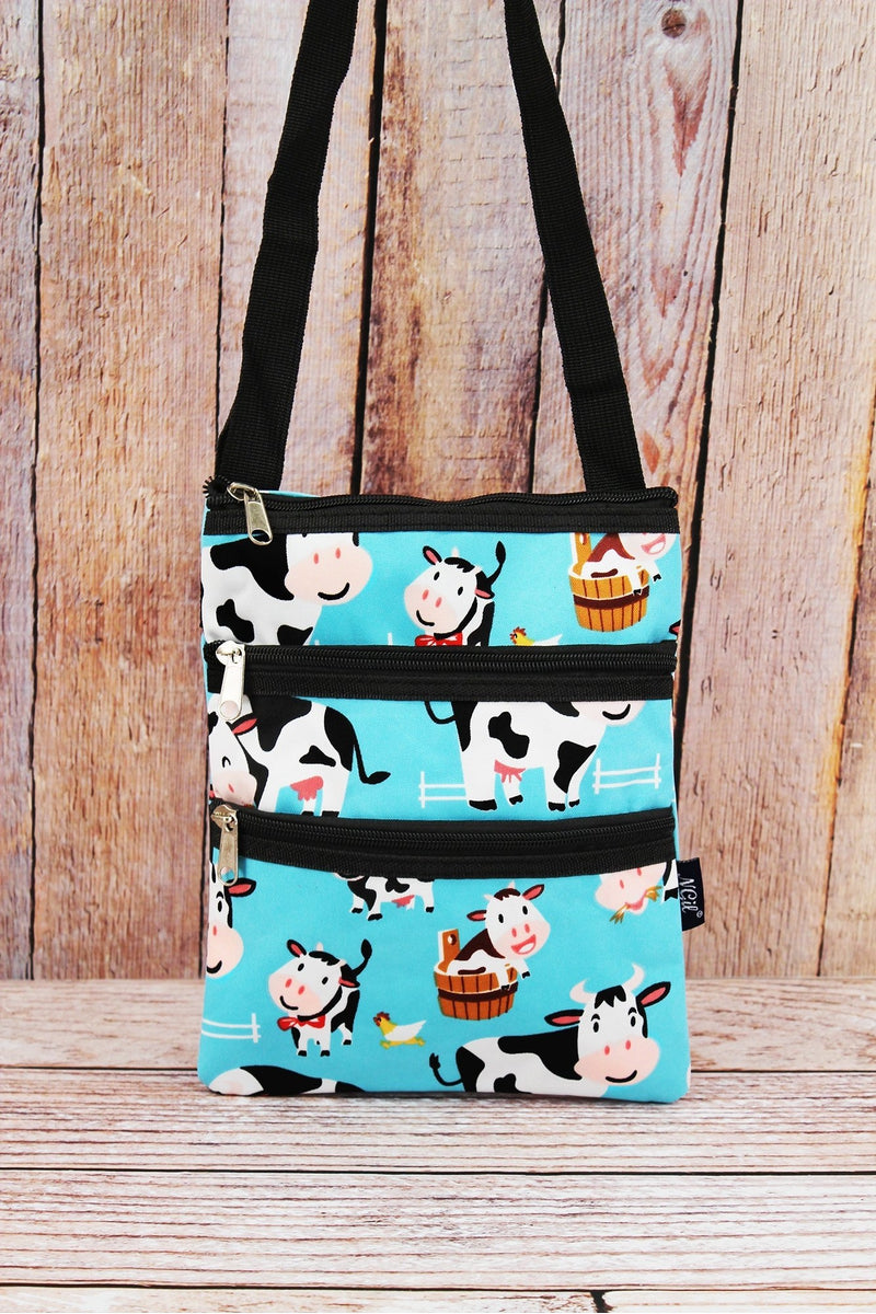 NGIL Udderly Cute Cows Crossbody Bag with Black Trim