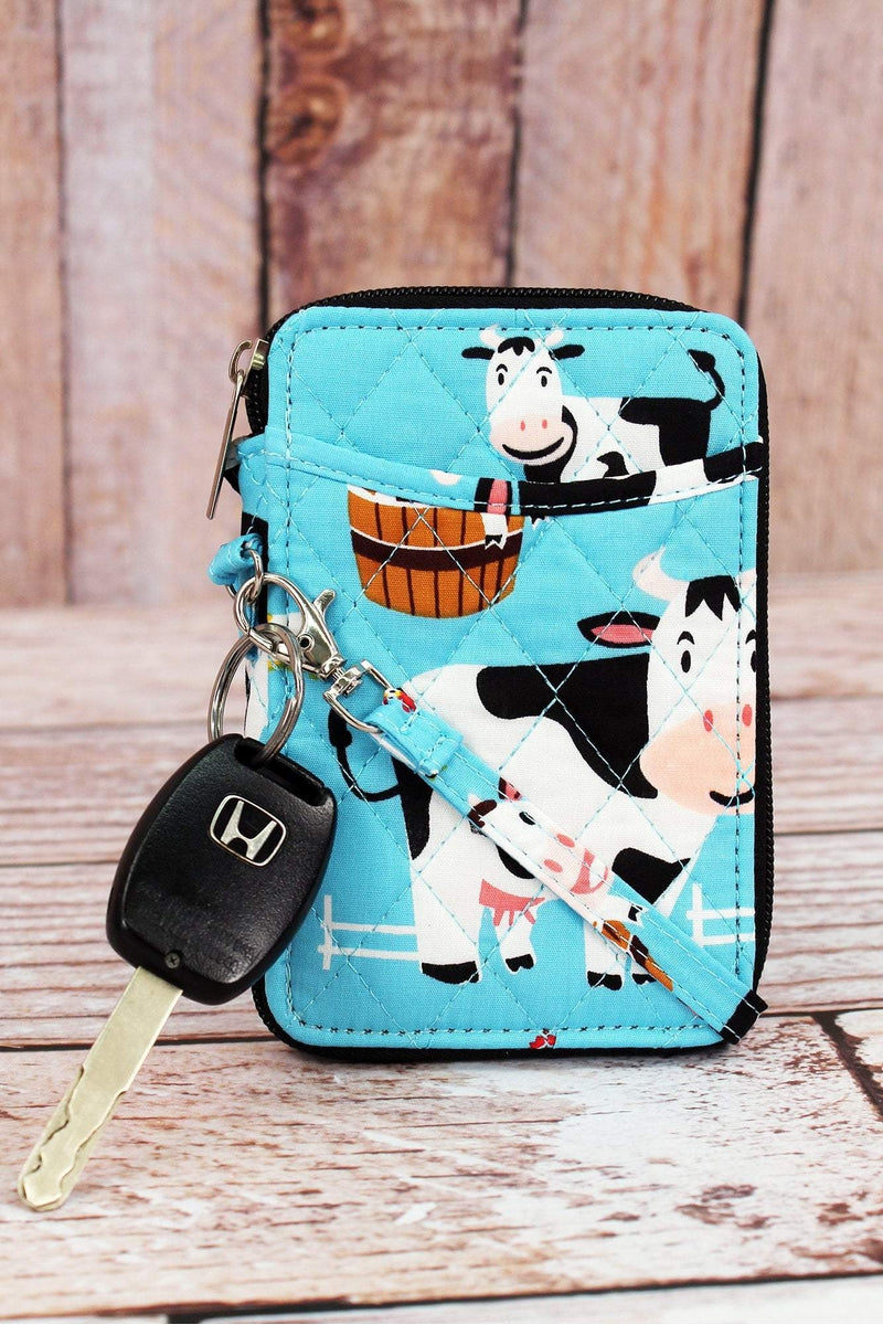NGIL Udderly Cute Cows Quilted Wristlet