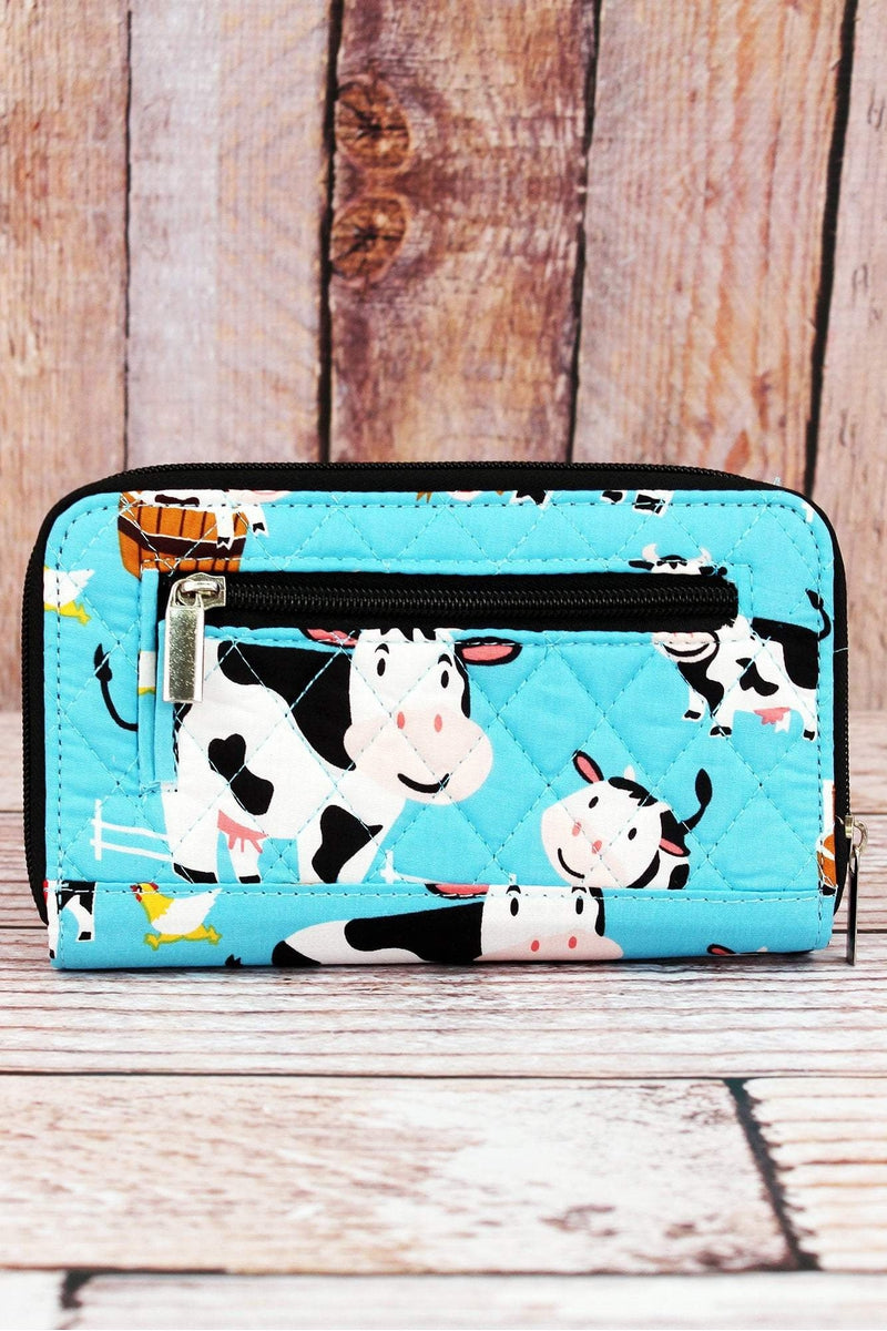 NGIL Udderly Cute Cows Quilted Organizer Clutch Wallet