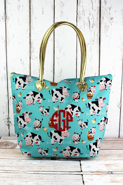 NGIL Udderly Cute Cows Shoulder Tote