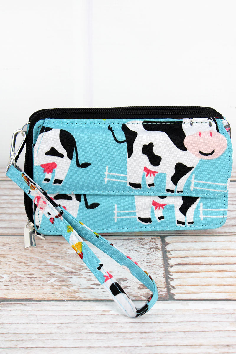 NGIL Udderly Cute Cows Crossbody Organizer Clutch