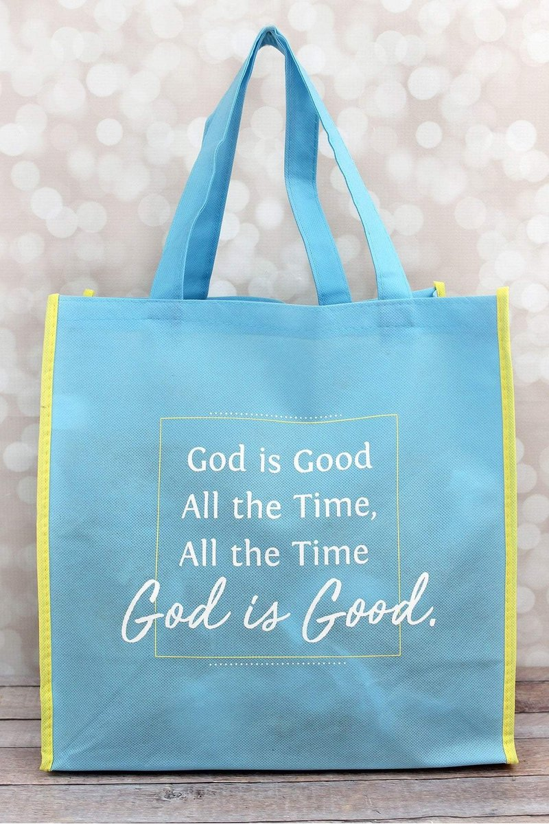God Is Good Light Blue Tote Bag