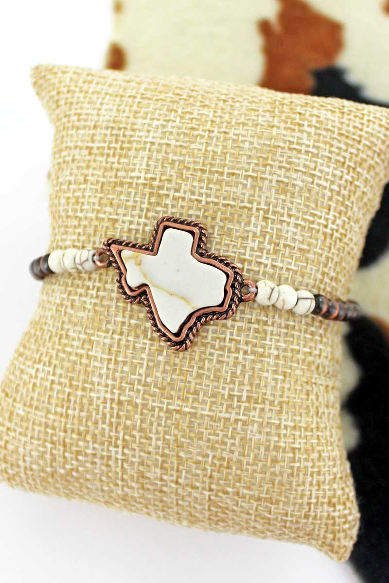 Natural Texas Copper Petite Pearl Bracelet