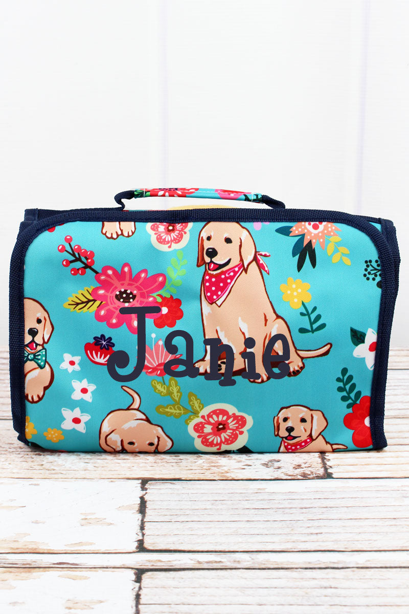 NGIL Dapper Dogs Roll Up Cosmetic Bag