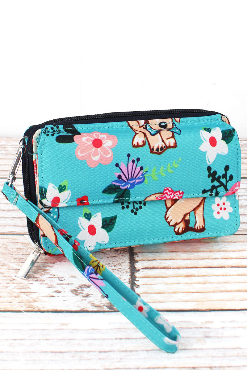 NGIL Dapper Dogs Crossbody Organizer Clutch