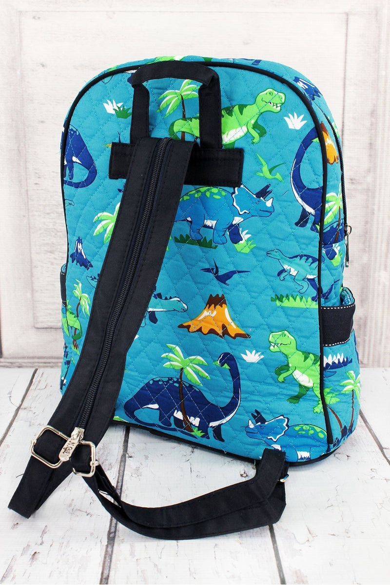 Dinosaur World Quilted Backpack #DIN2828-NAVY