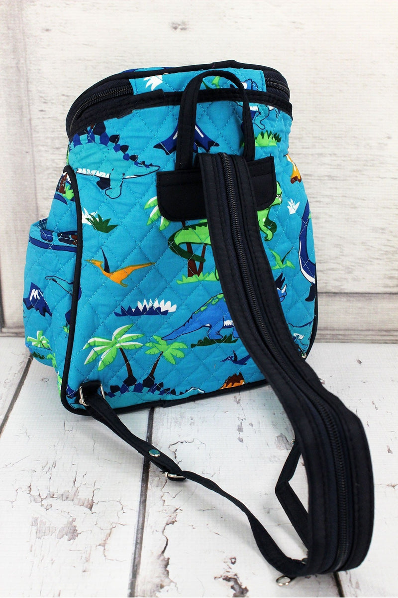 Dinosaur World Quilted Petite Backpack #DIN286-NAVY