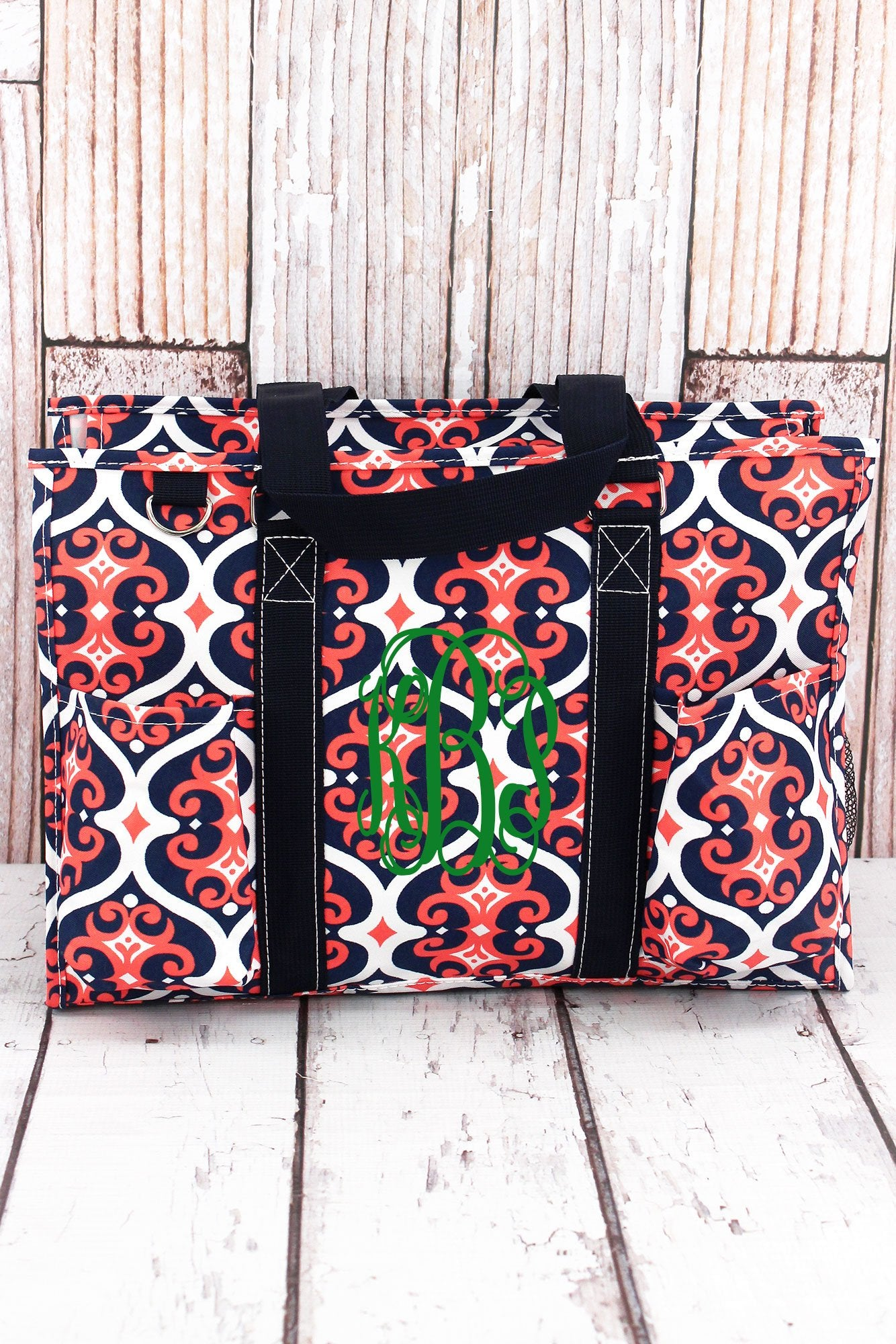 Arabian Nights with Navy Trim Large Organizer Tote