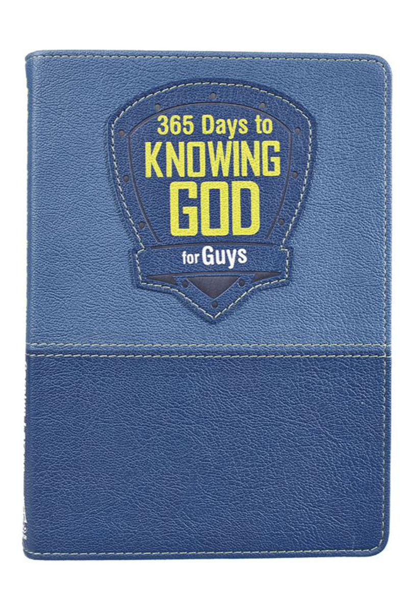 365 Days To Knowing God For Guys LuxLeather Book