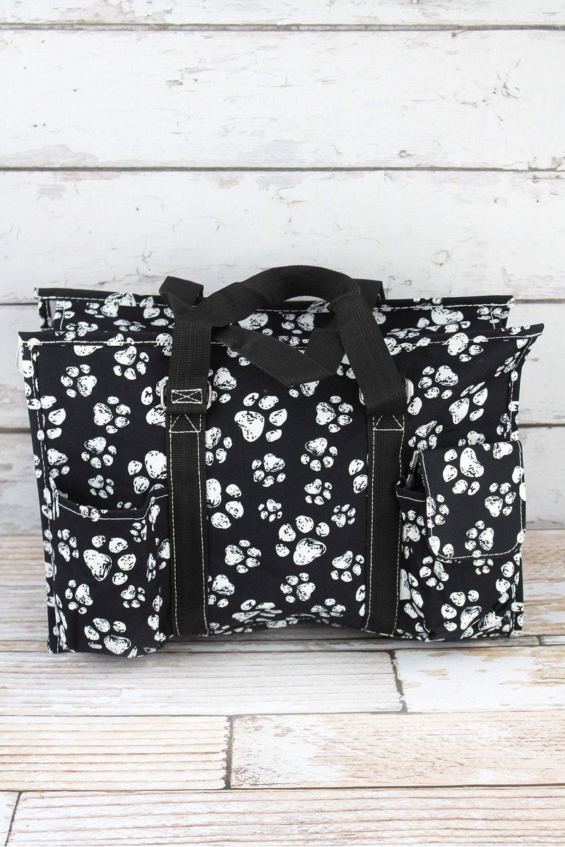 NGIL Puppy Prints Utility Tote with Black Trim