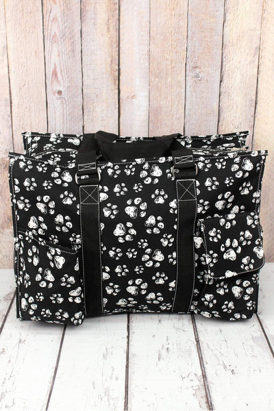 NGIL Puppy Prints with Black Trim Large Organizer Tote