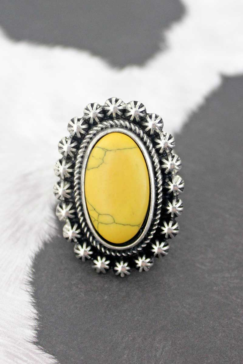 Bellflower Mustard Oval Ring