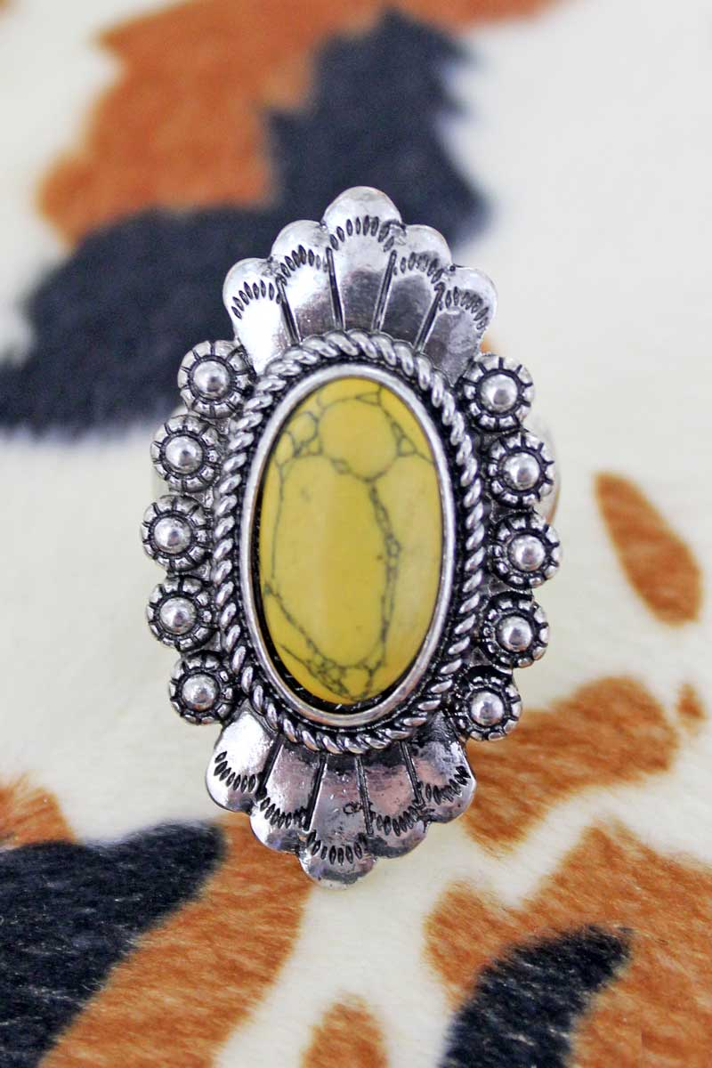 Florence Mustard and Silvertone Ring