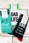 One Pair of Large Dad Socks - SHIPS ASSORTED