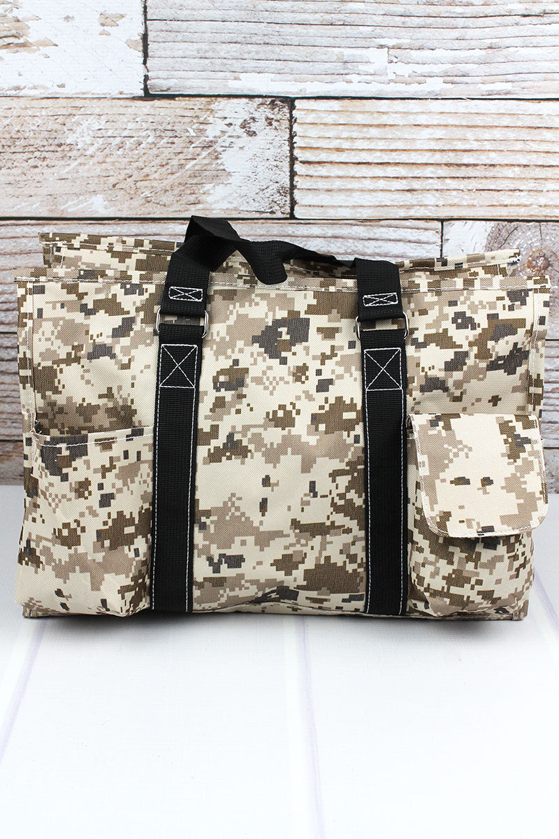 Digital Camo Tote with Black Trim