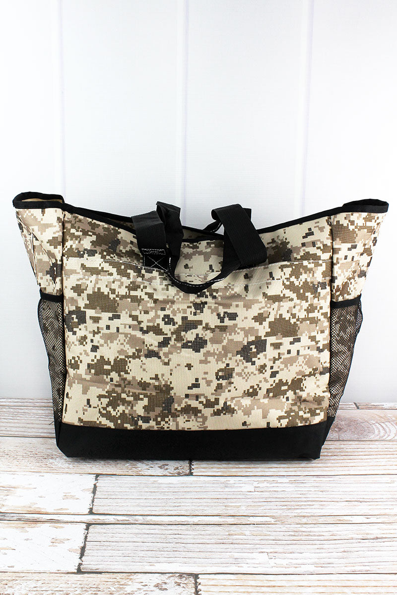 NGIL Digital Camo Everyday Organizer Tote