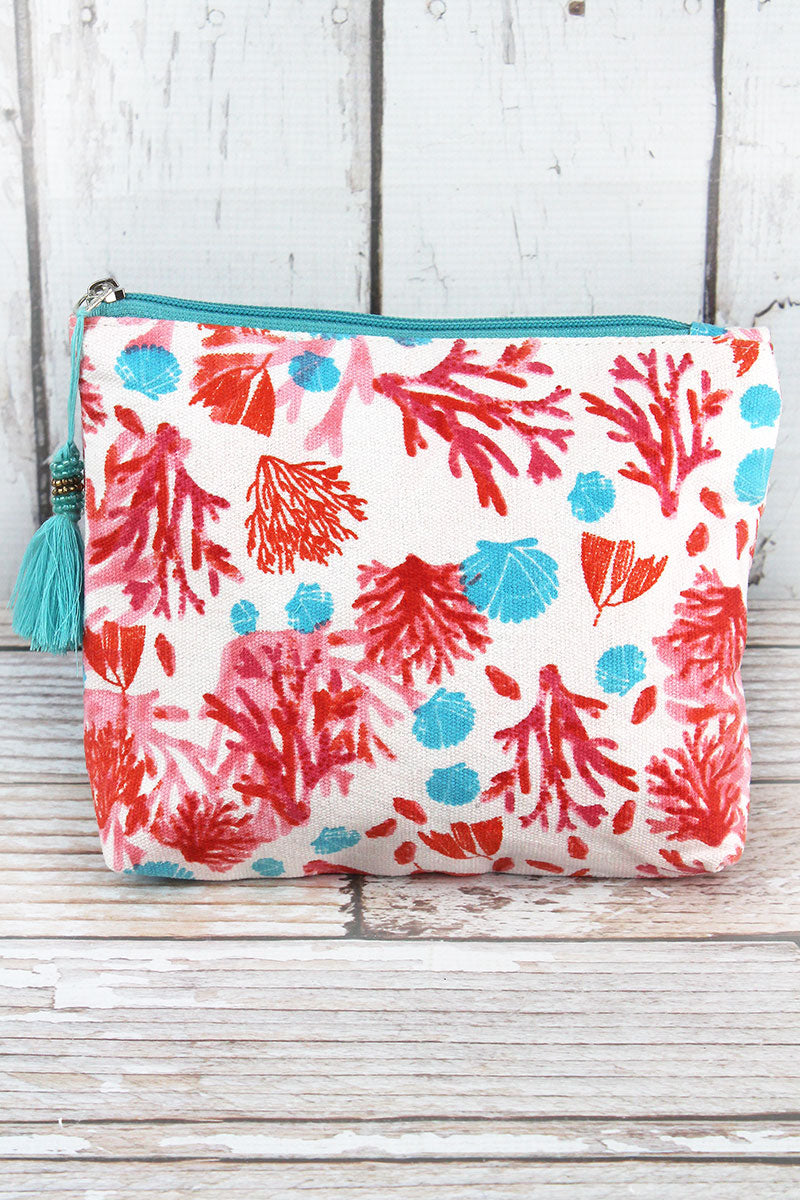 Coral Cay Tassel Cosmetic Bag