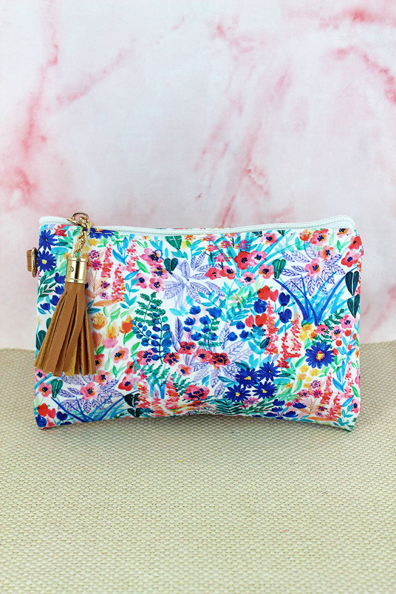 Field of Flowers Tassel Pouch