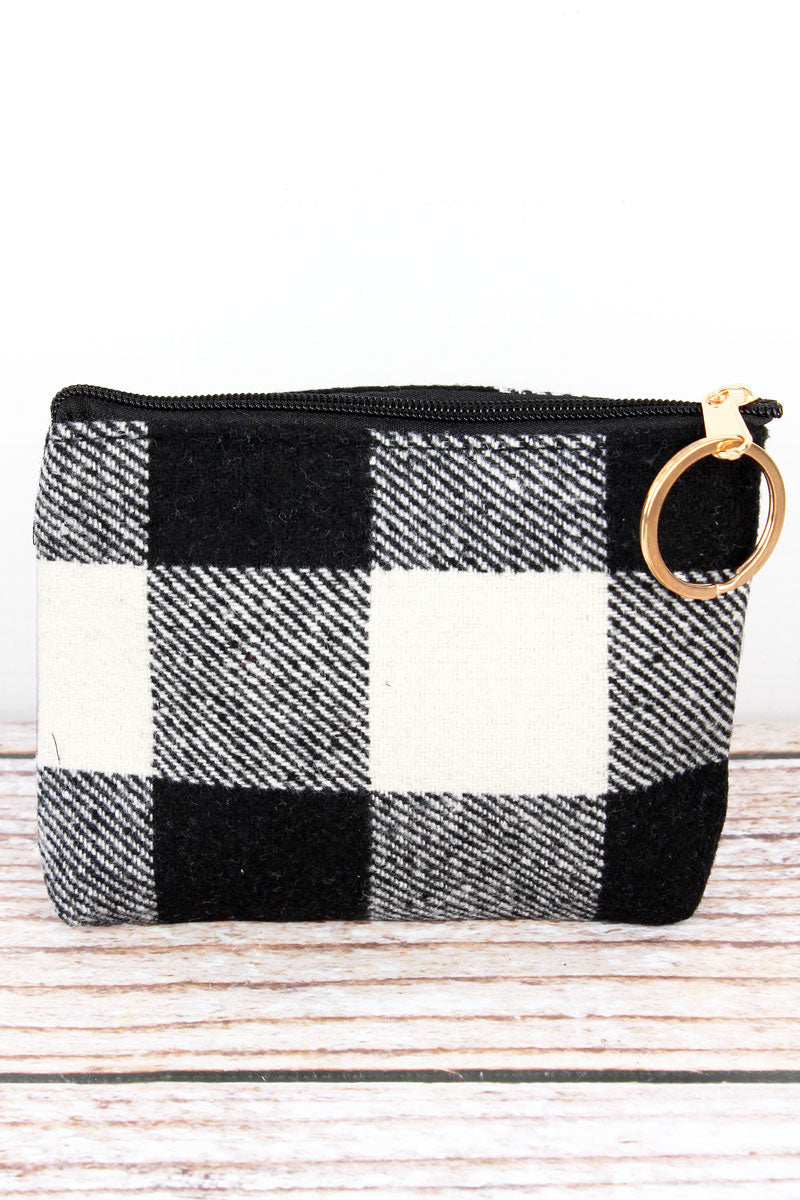 Black and White Rustic Retreat Coin Purse