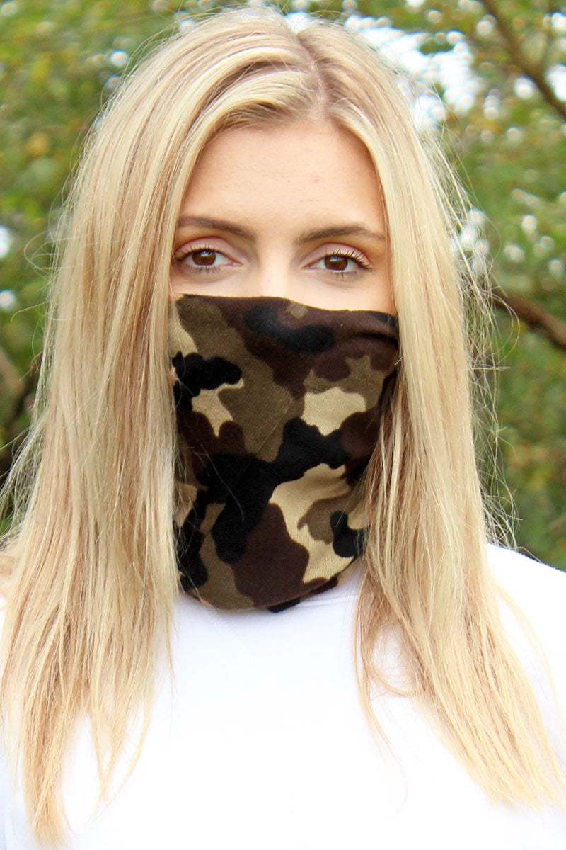 Desert Camo Double Layer Twisted Face Mask Neck Gaiter