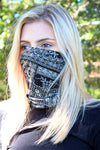 Black Bandana Double Layer Twisted Face Mask Neck Gaiter