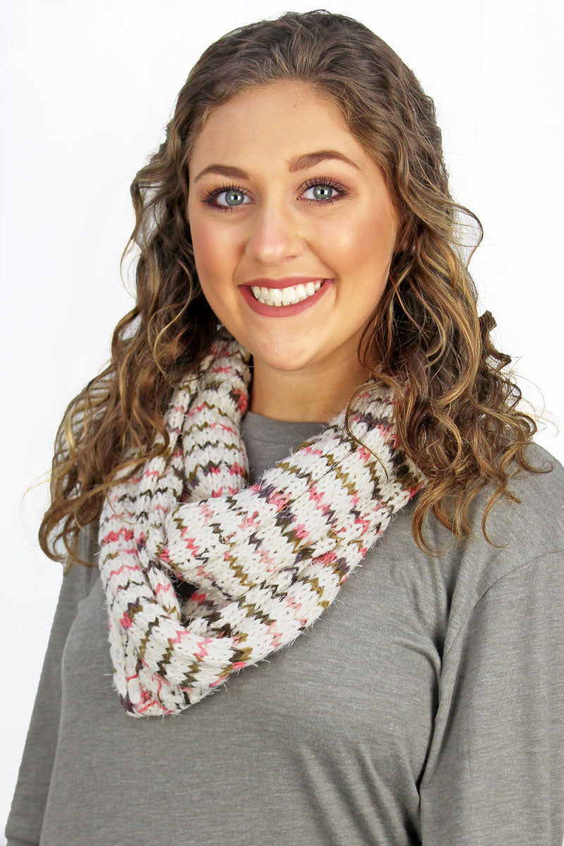 The Right Direction Infinity Scarf, Ivory