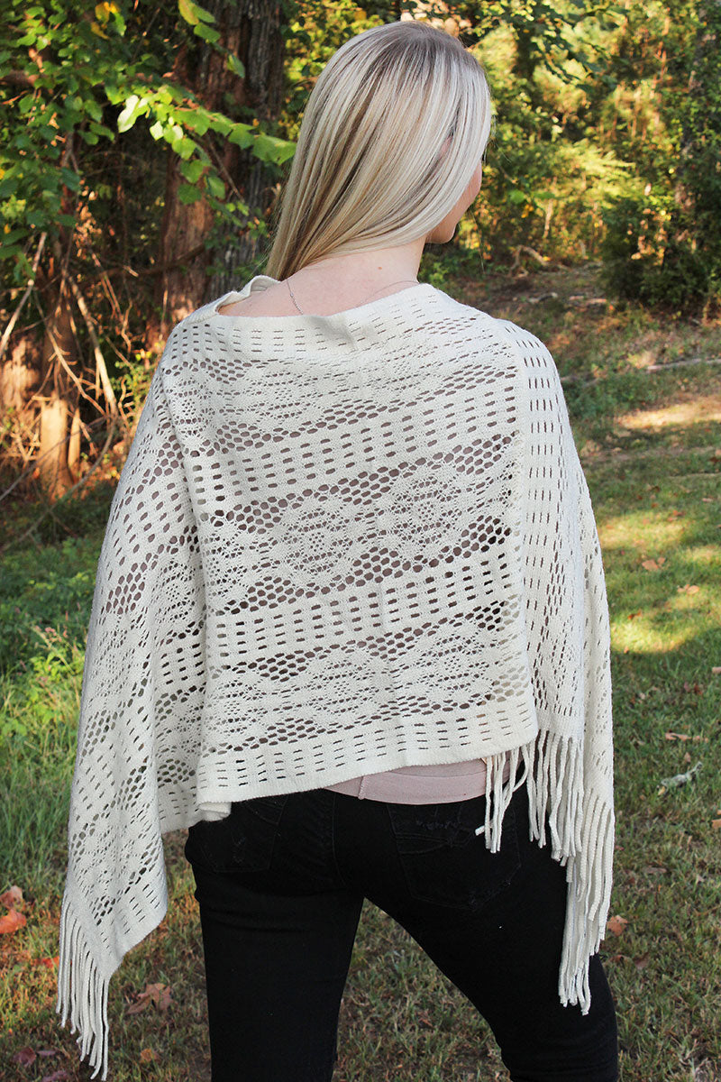November Nights Poncho, Ivory