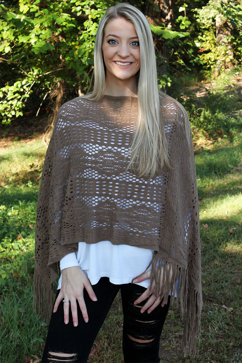 November Nights Poncho, Taupe