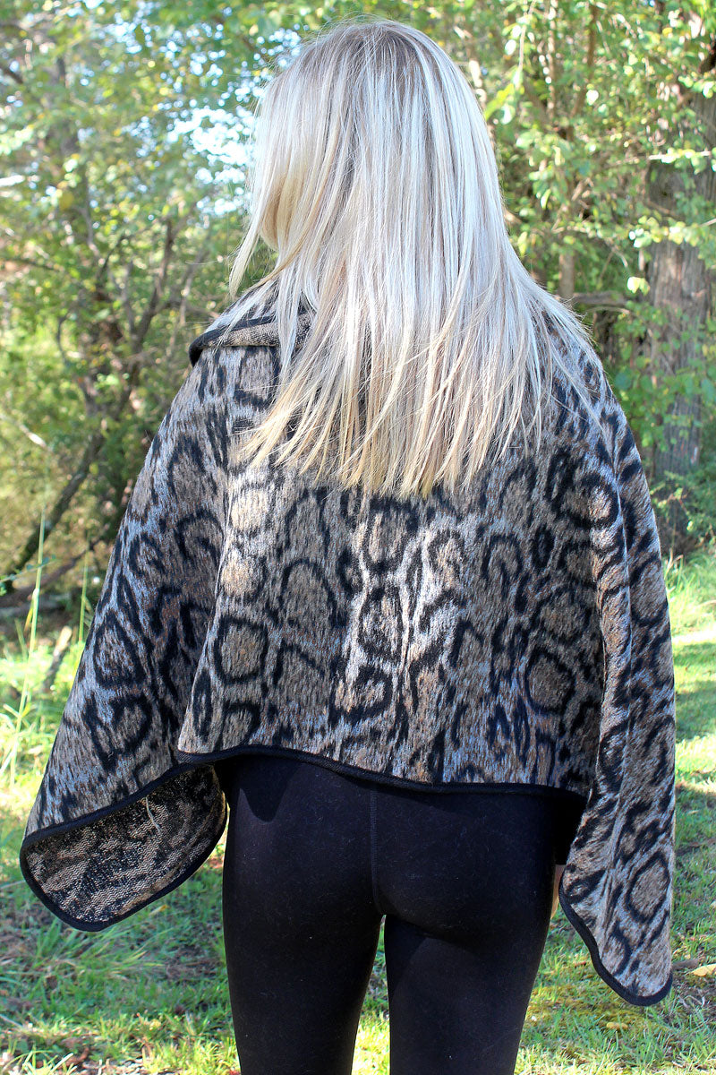 On The Spot Poncho, Taupe