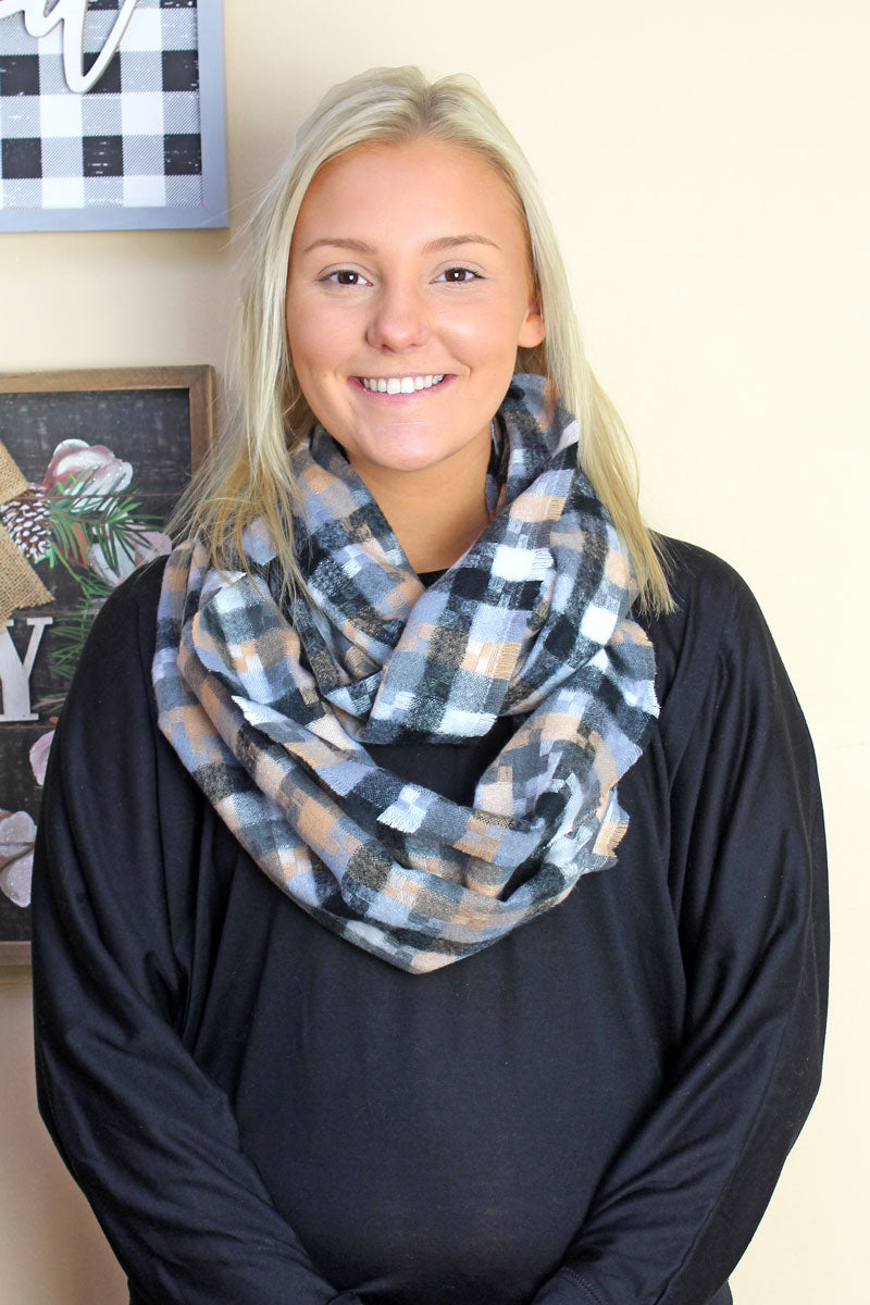 Bama Breeze Infinity Scarf, Black
