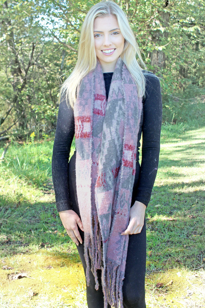 Star Valley Winter Long Scarf, Gray