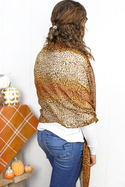 SALE! Change Your Spots Scarf, Camel