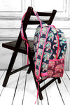 NGIL Preppy Ellie Large Backpack with Hot Pink Trim