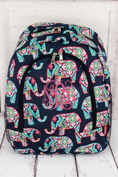 Preppy Ellie Large Backpack with Navy Trim #ELE403-NAVY
