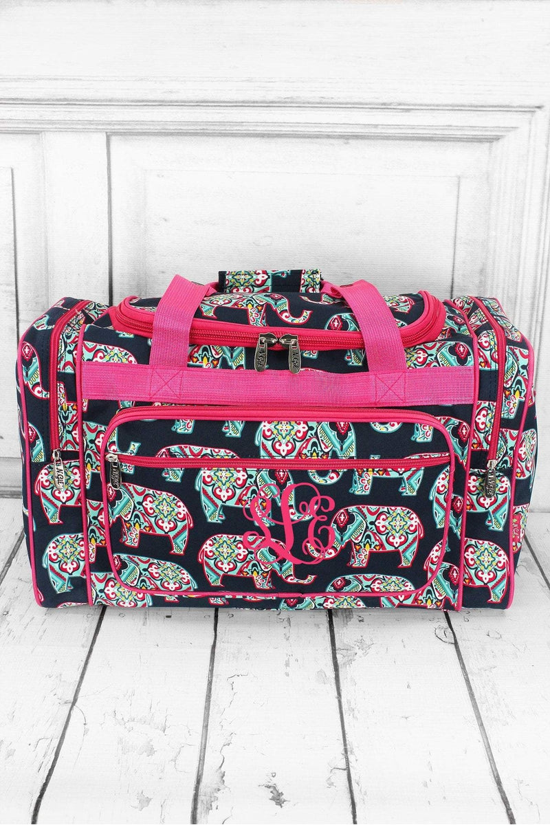 NGIL Preppy Ellie Duffle Bag with Hot Pink Trim 20""