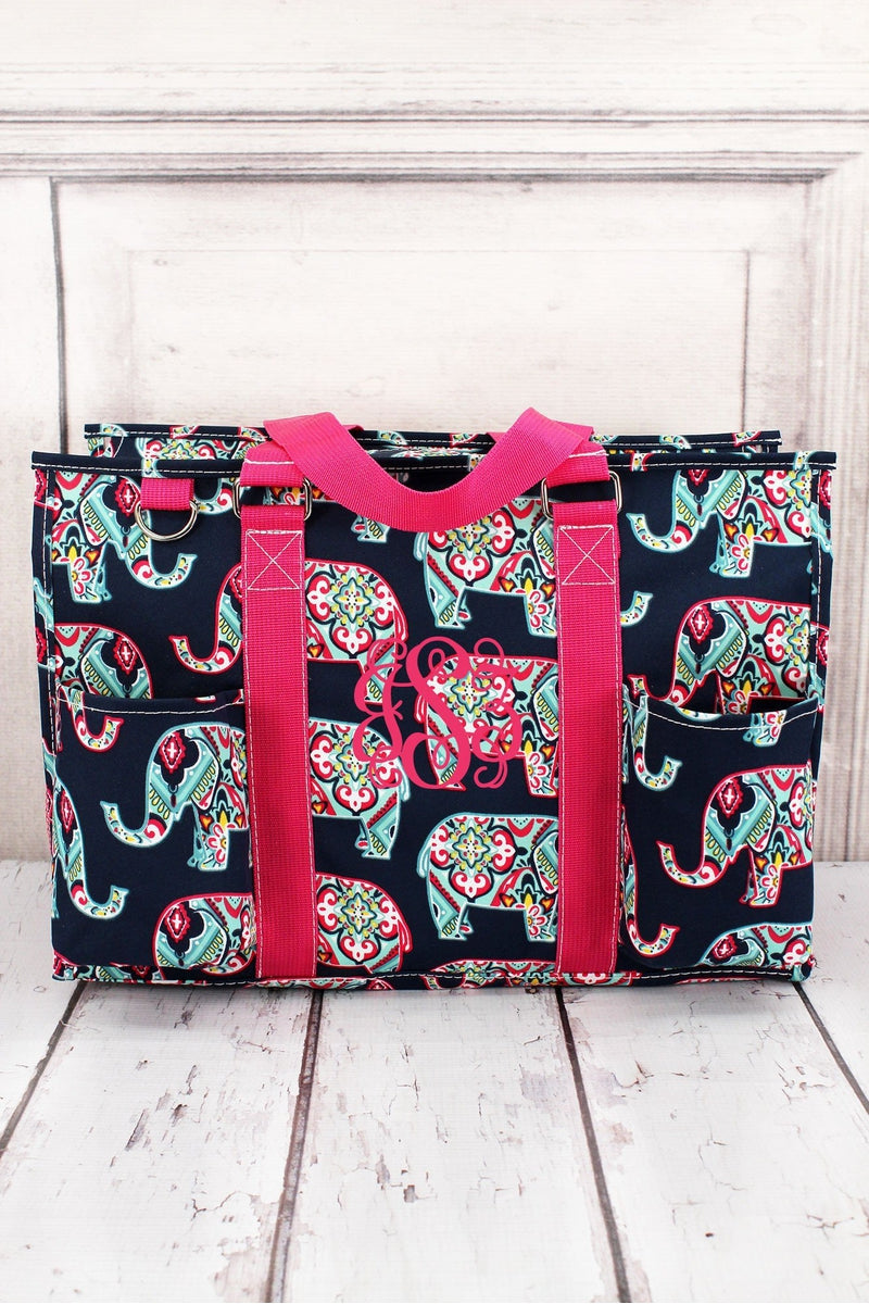 Preppy Ellie Utility Tote with Hot Pink Trim #ELE731-HPINK