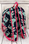 NGIL Prissy Pachyderm Large Backpack with Hot Pink Trim