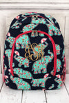 Prissy Pachyderm Large Backpack with Hot Pink Trim #EPN403-HPINK