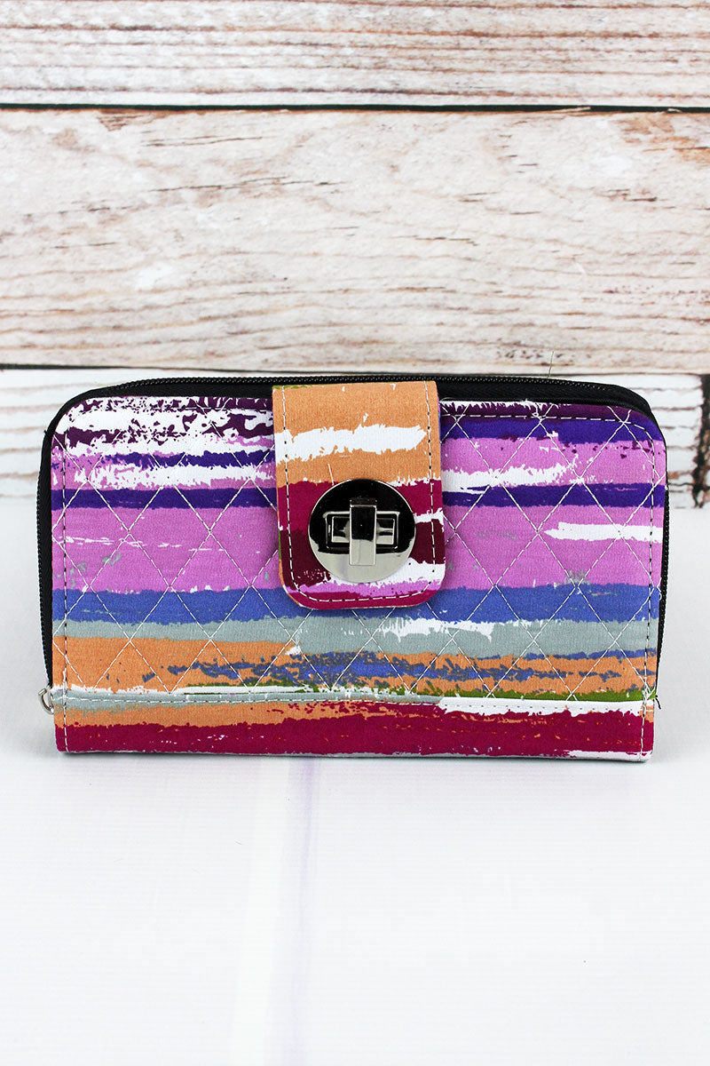 NGIL On The Horizon Quilted Organizer Clutch Wallet