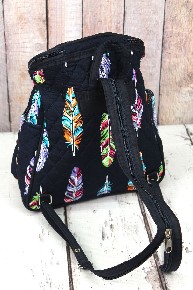 NGIL Fancy Feathers Quilted Petite Backpack