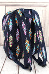 NGIL Fancy Feathers Quilted Oversized Backpack