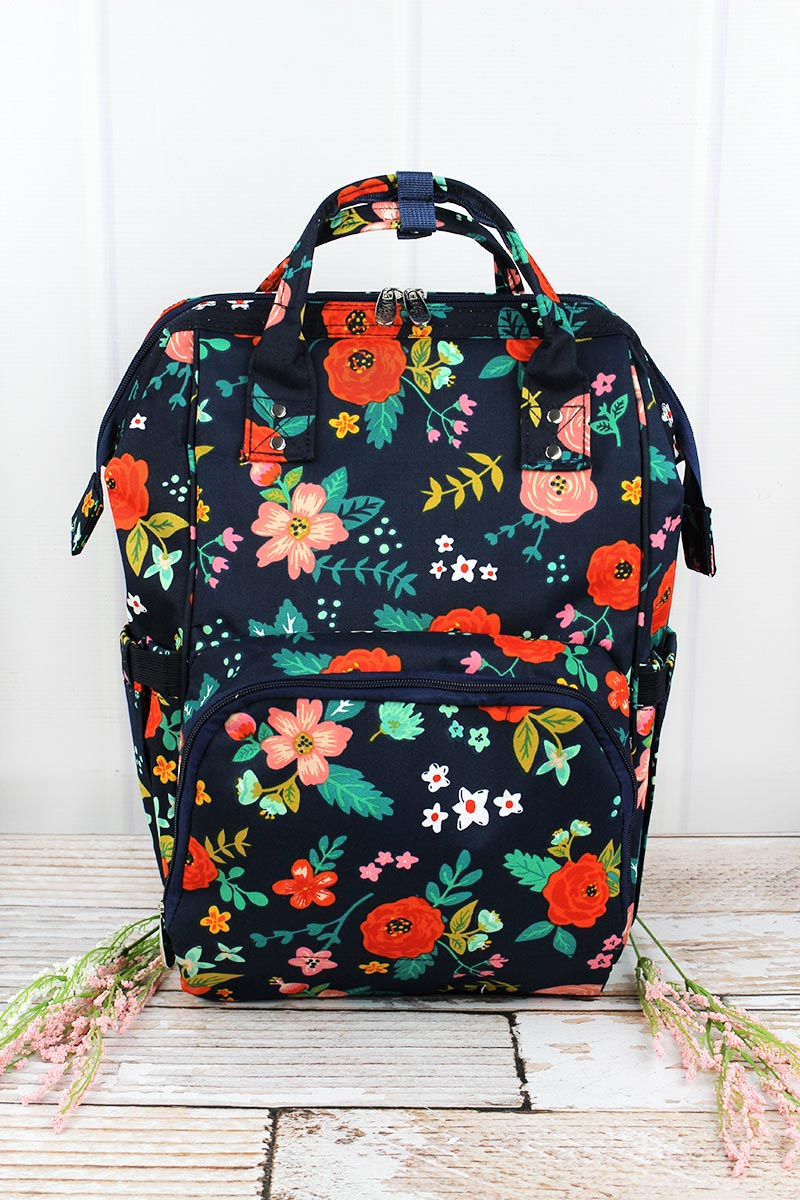 NGIL Spring Blossoms Diaper Bag Backpack