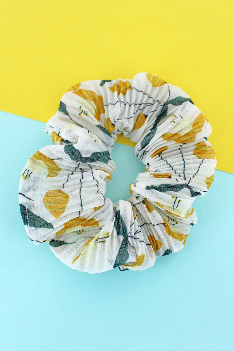 Blooming Beauty Ivory Scrunchie