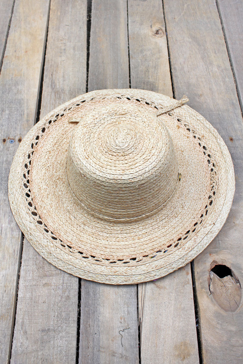 Caribbean Life Raffia Floppy Hat, Natural