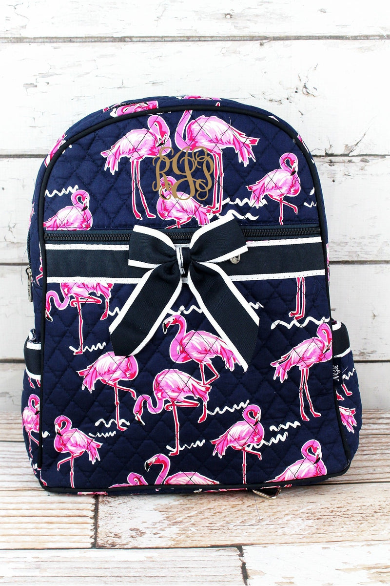NGIL Flamingo Party Quilted Backpack