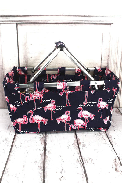 NGIL Flamingo Party Collapsible Market Basket
