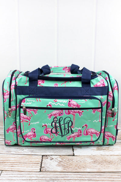 NGIL Flamingo Dance Duffle Bag with Navy Trim 20""