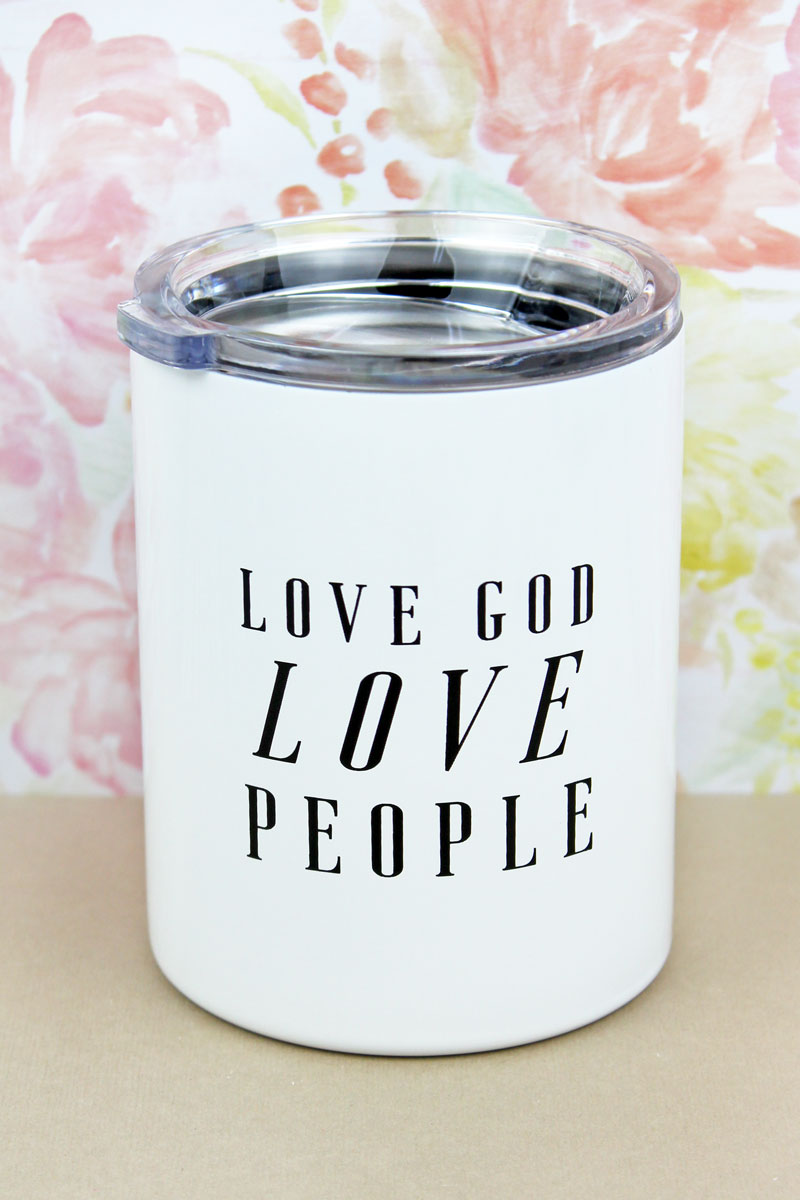 Love God Love People Stainless Steel Tumbler