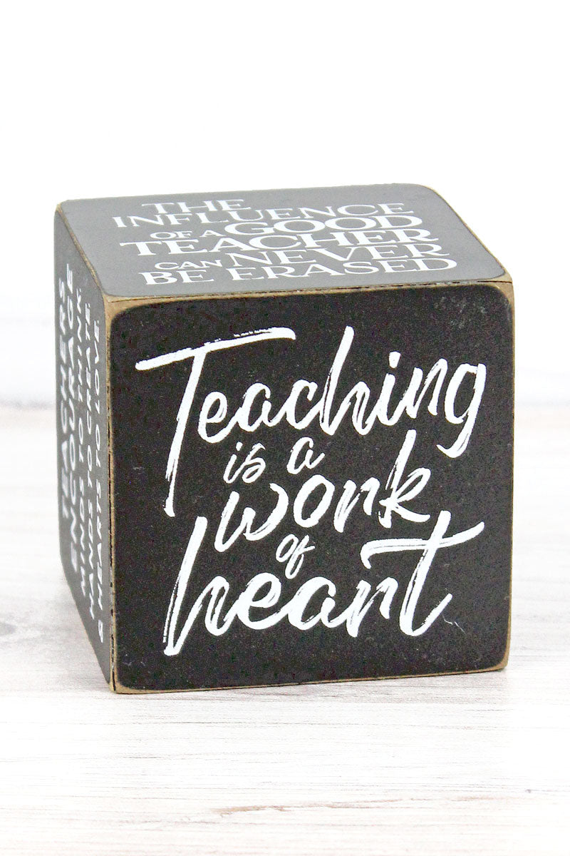 3 x 3 '#Teacherlife' Well Said! Quote Cube