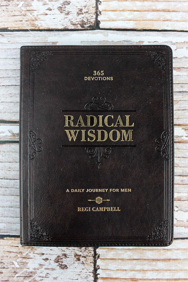 Radical Wisdom LuxLeather Devotional For Men